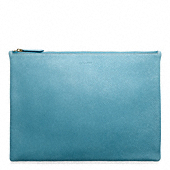 BLEECKER PEBBLED LEATHER LARGE ZIP PORTFOLIO