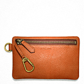 BLEECKER PEBBLED LEATHER KEYCASE ENVELOPE