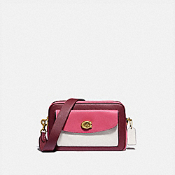 CASSIE CAMERA BAG IN COLORBLOCK - BRASS/CONFETTI PINK MULTI - COACH 638