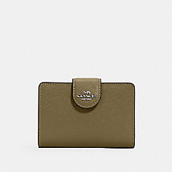 MEDIUM CORNER ZIP WALLET - QB/KELP - COACH 6390