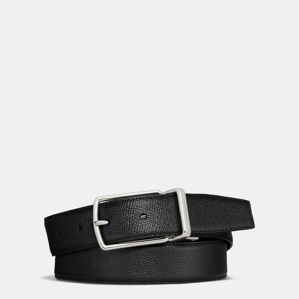 MODERN HARNESS CUT-TO-SIZE REVERSIBLE TEXTURED LEATHER BELT