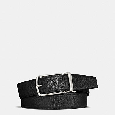MODERN HARNESS CUT-TO-SIZE REVERSIBLE TEXTURE LEATHER BELT