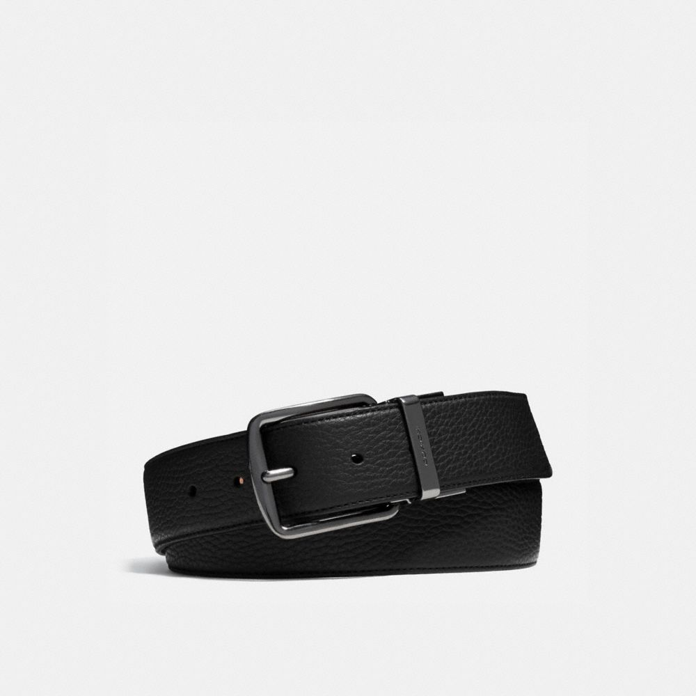 WIDE CUT-TO-SIZE REVERSIBLE LEATHER BELT - Alternate View