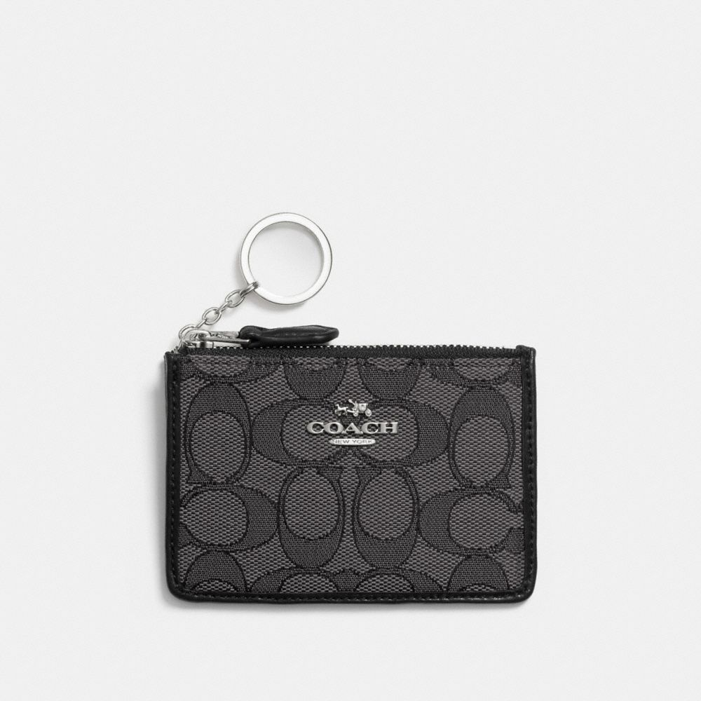 MINI SKINNY ID CASE IN SIGNATURE JACQUARD - Alternate View
