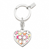 SIGNATURE C PIERCED HEART KEY RING
