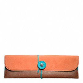 BLEECKER LEATHER NUBUCK PENCIL CASE