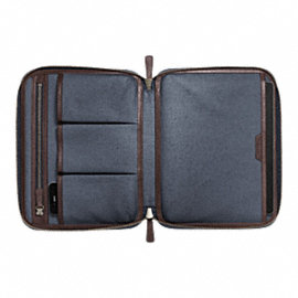 BLEECKER LEATHER TABLET ORGANIZER