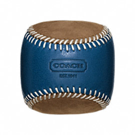 BLEECKER LEATHER SUEDE BASEBALL PAPERWEIGHT