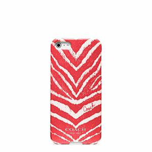 Coach - Zebra Print Iphone 5 Case Bright Coral