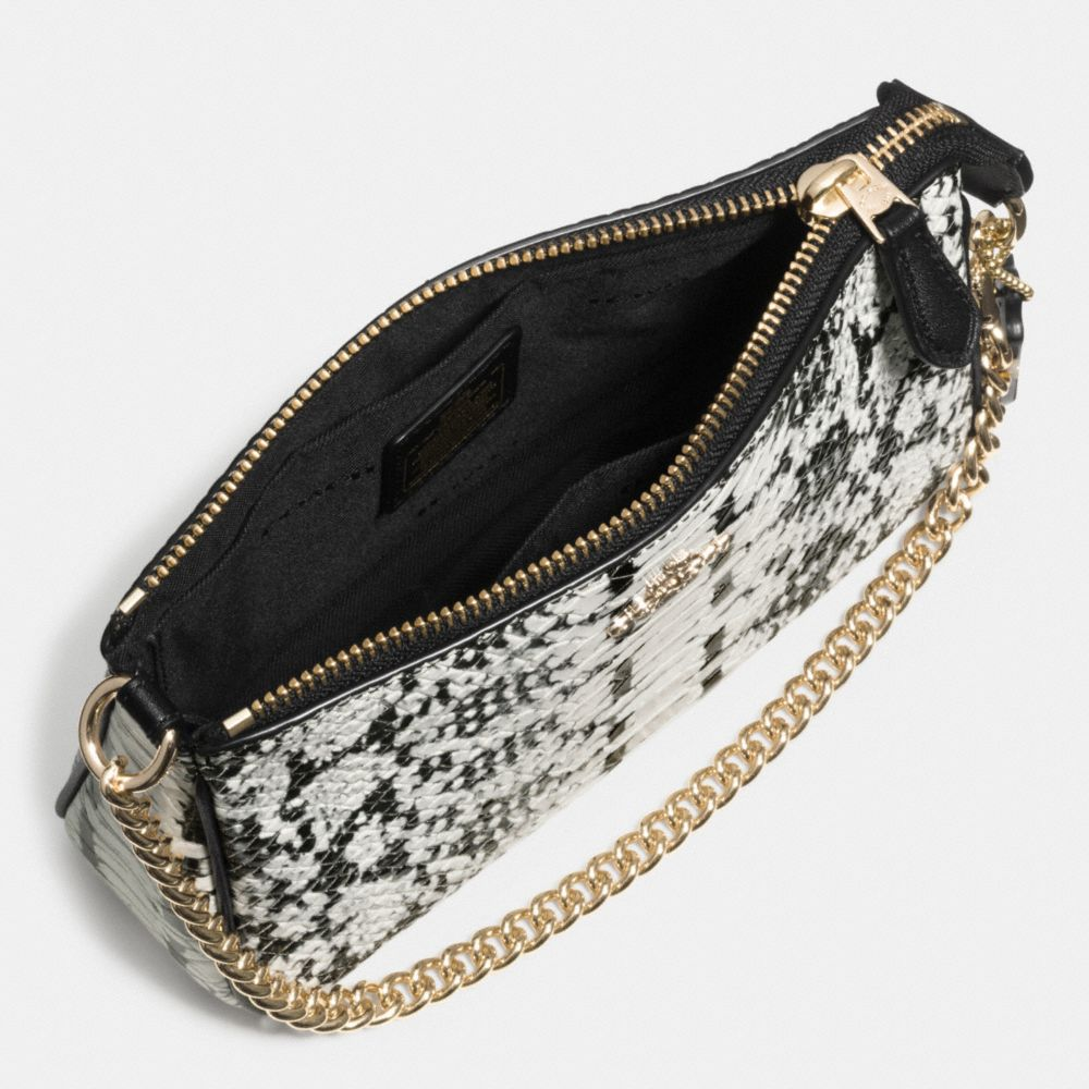 Nolita Wristlet 19 in Colorblock Exotic Embossed Leather - Alternate View A1
