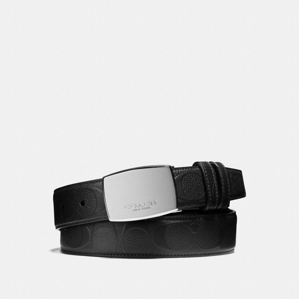Dress Plaque Cut-To-Size Reversible Signature Crossgrain Belt