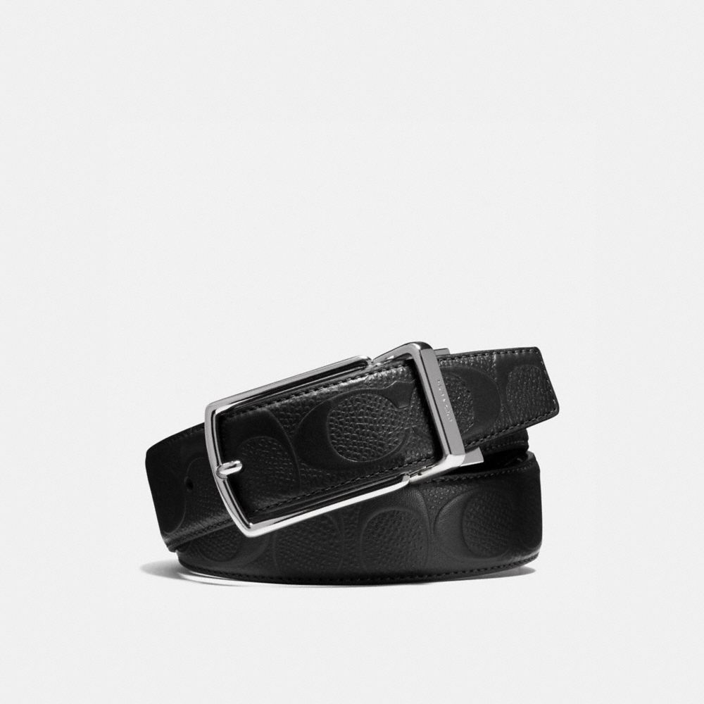 MODERN HARNESS CUT-TO-SIZE REVERSIBLE SIGNATURE CROSSGRAIN LEATHER BELT - Alternate View