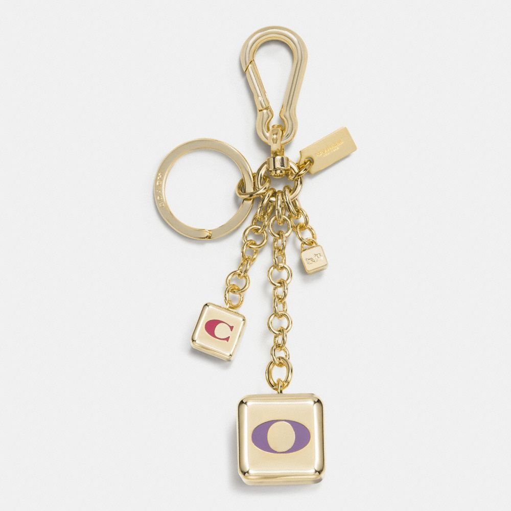 Coach Multi Mix Block Bag Charm