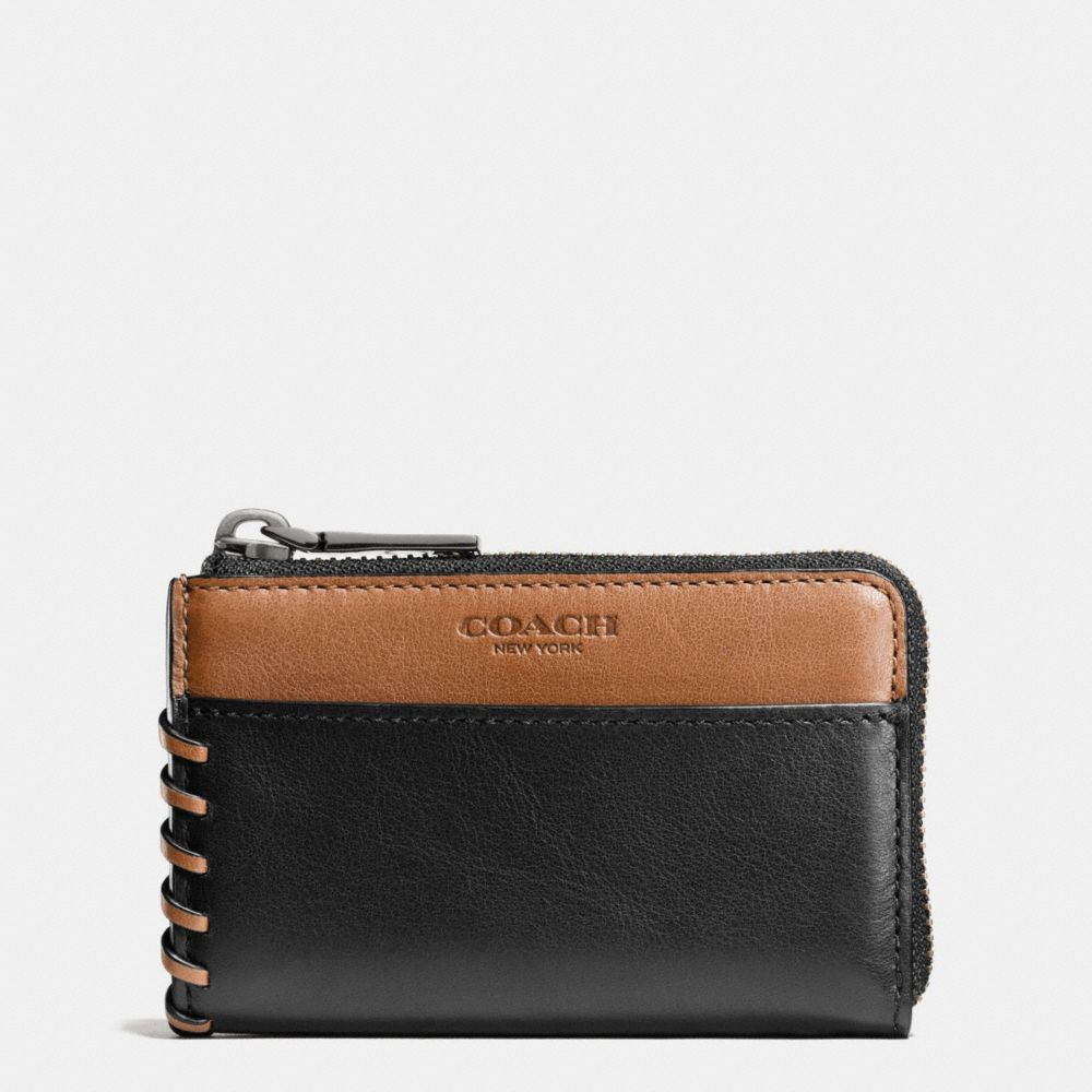 Rip and Repair Zip Key Case in Sport Calf Leather