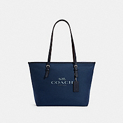 CITY ZIP TOTE - SV/DENIM - COACH 6528