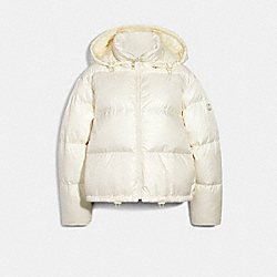 SHORT PUFFER - CREAM - COACH 6530