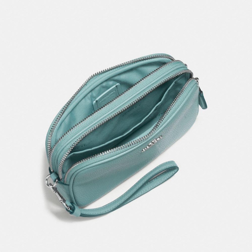 CROSSBODY CLUTCH IN POLISHED PEBBLE LEATHER - Alternate View