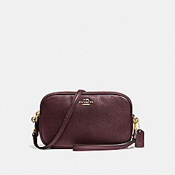 SADIE CROSSBODY CLUTCH - OXBLOOD/LIGHT GOLD - COACH 65547