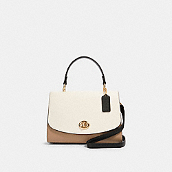 TILLY TOP HANDLE IN COLORBLOCK - IM/CHALK MULTI - COACH 656