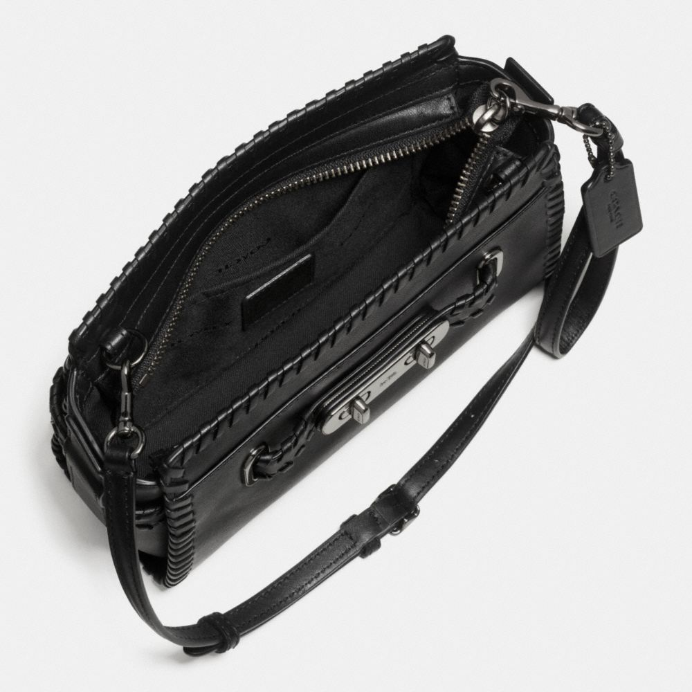Coach Rip and Repair Coach Swagger Wristlet in Glovetanned Leather Alternate View 1
