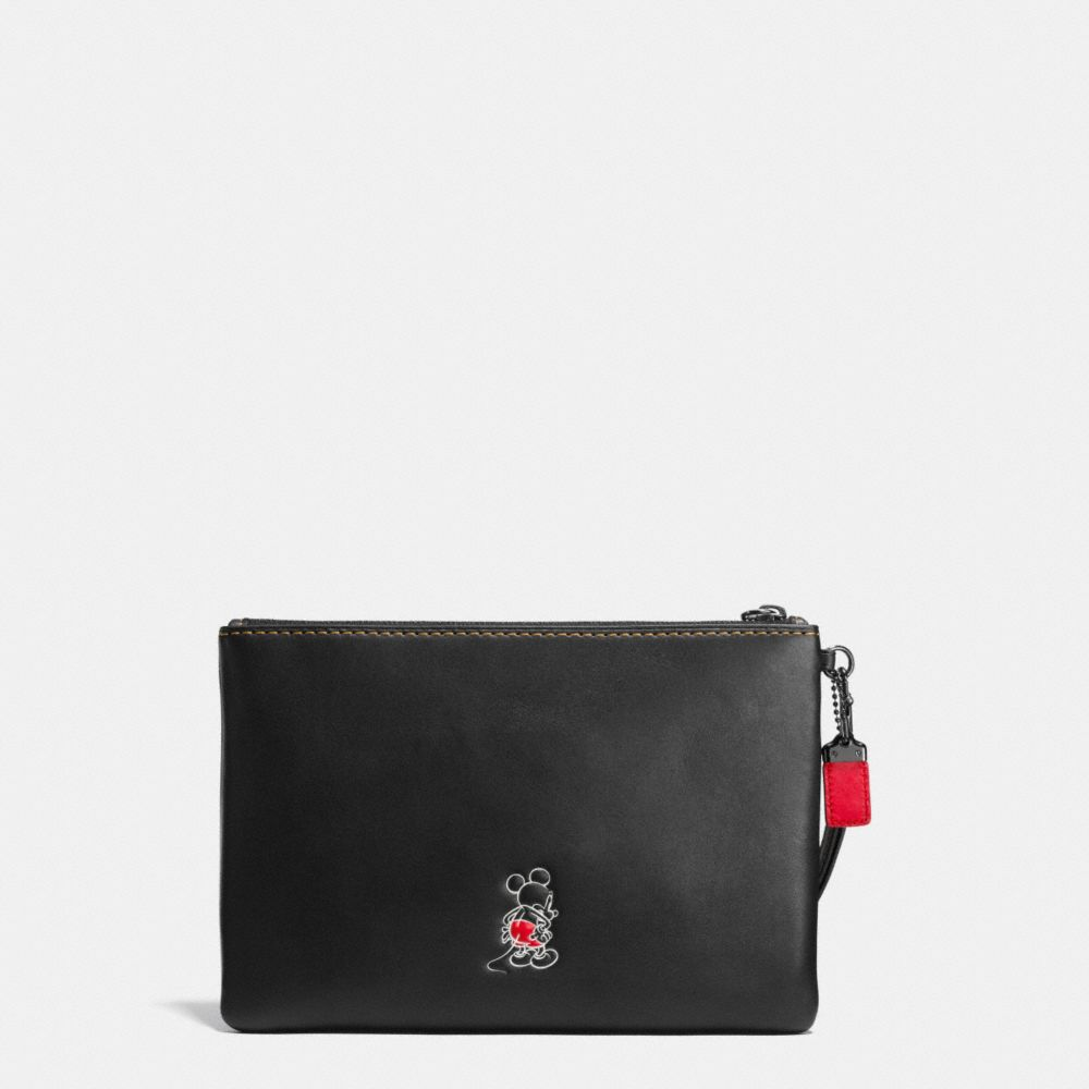Mickey Turnlock Wristlet in Glovetanned Leather - Alternate View A2