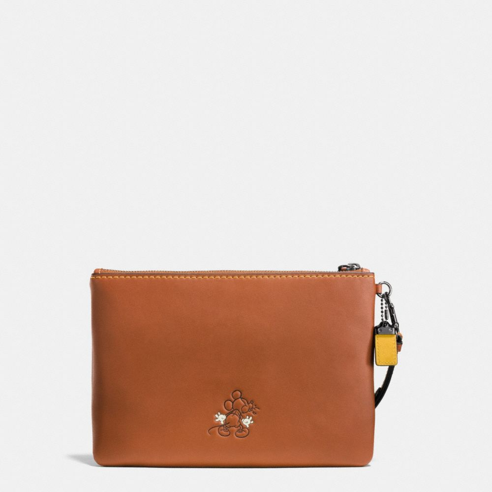 MICKEY TURNLOCK WRISTLET IN GLOVETANNED LEATHER - Alternate View