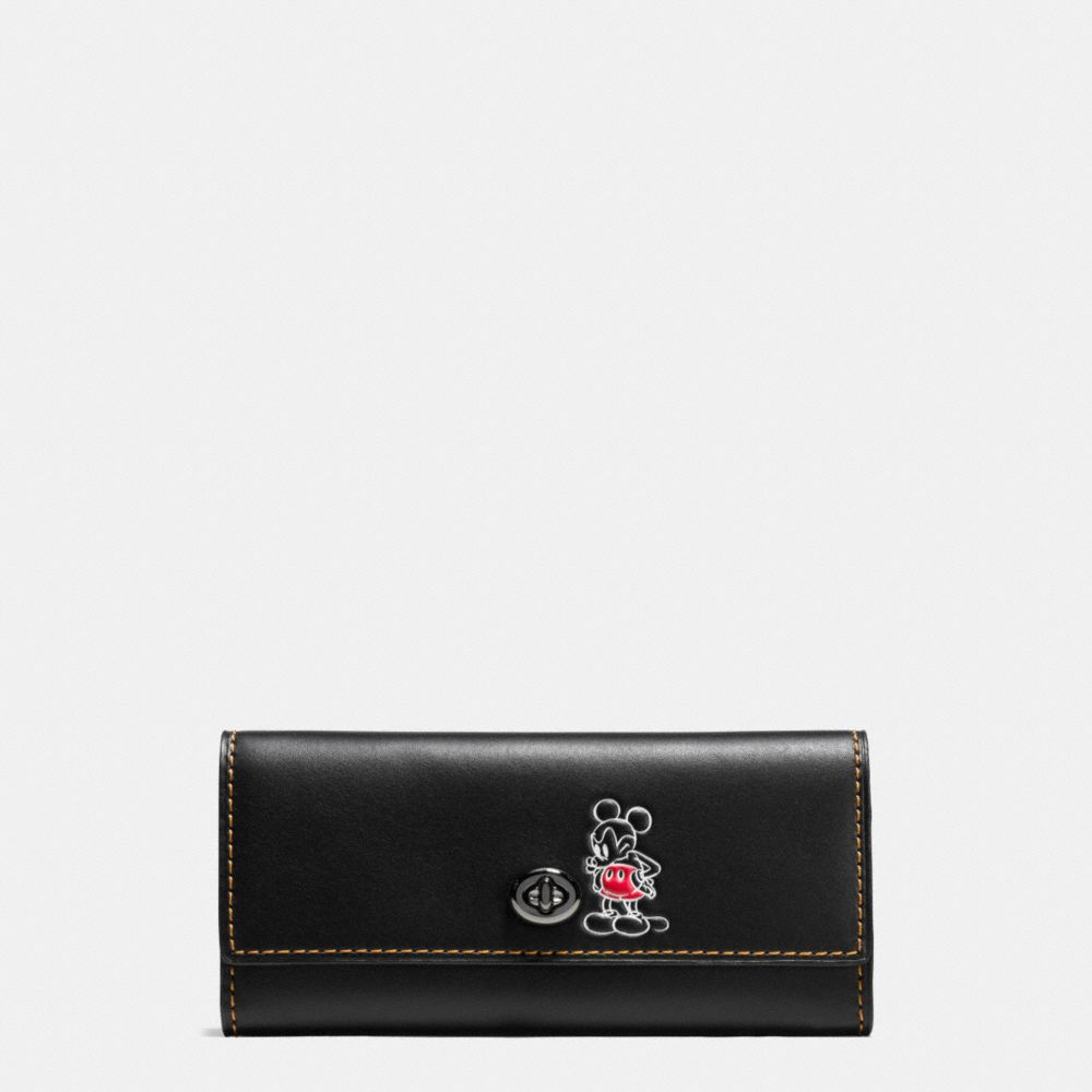 Coach Mickey Turnlock Wallet in Smooth Leather