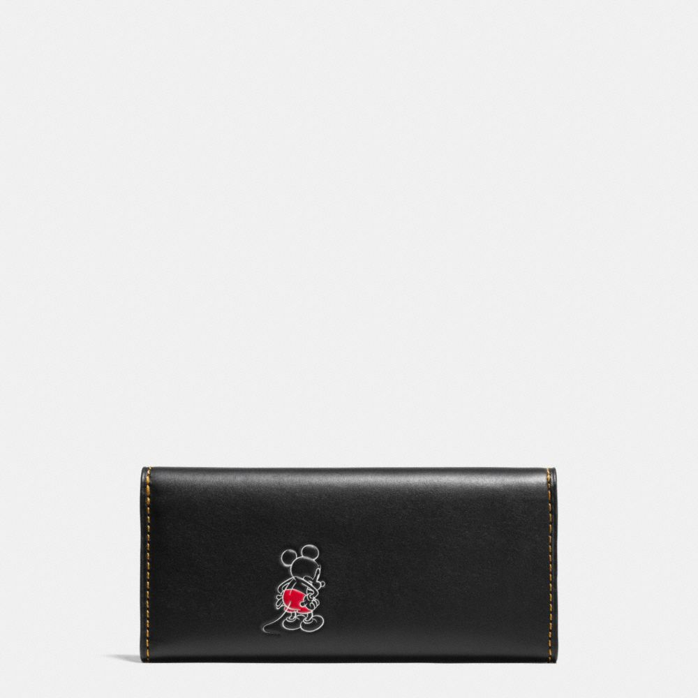 Coach Mickey Turnlock Wallet in Smooth Leather Alternate View 1