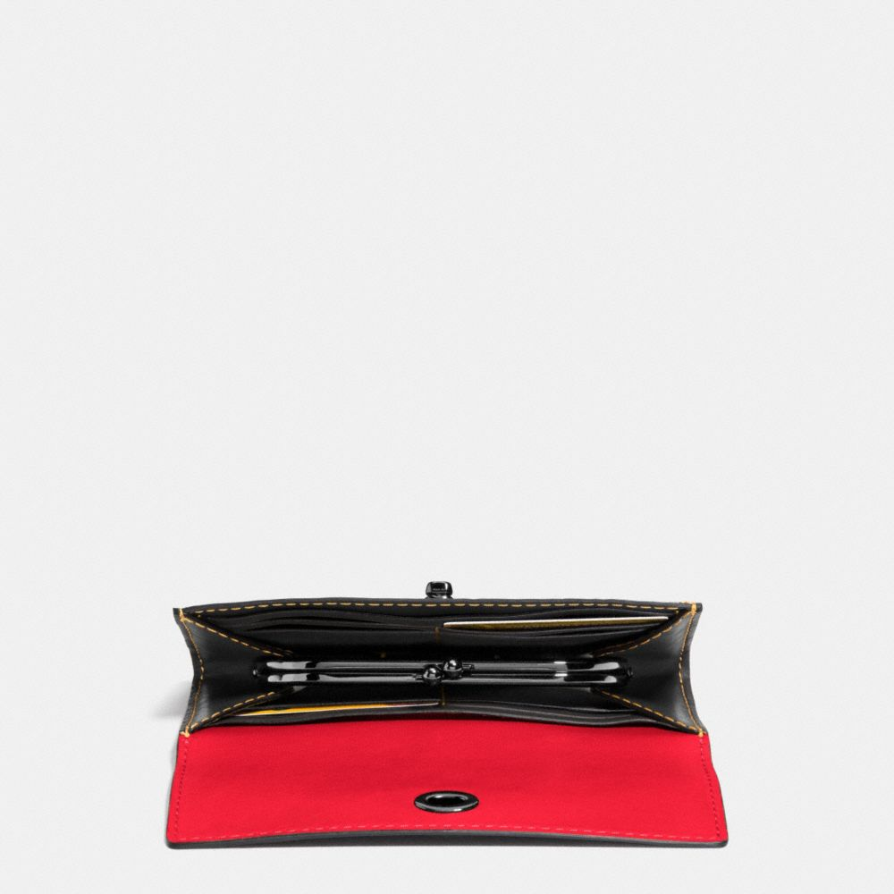 Coach Mickey Turnlock Wallet in Smooth Leather Alternate View 2