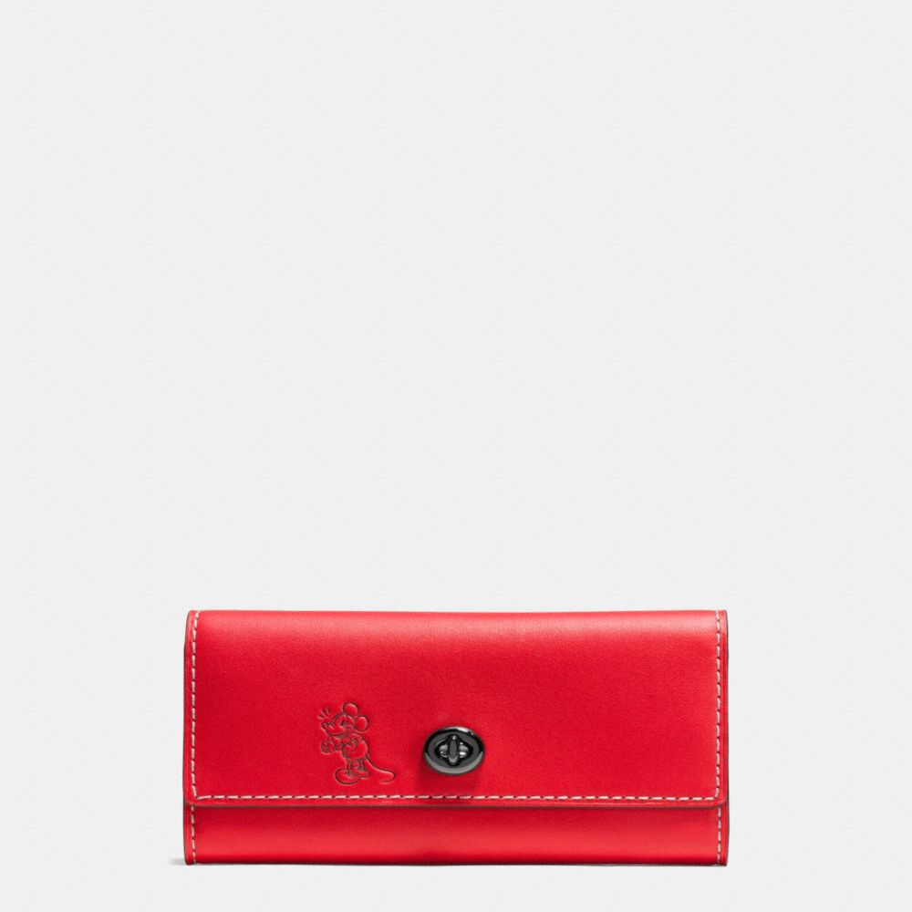 Mickey Turnlock Wallet in Smooth Leather
