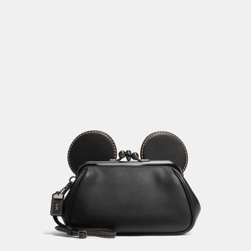 Coach Mickey Kisslock Wristlet in Smooth Leather