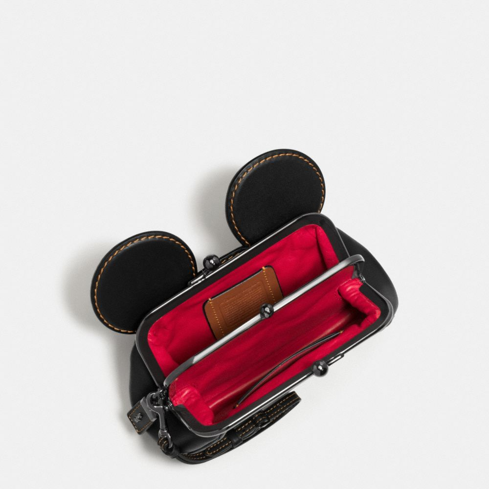 MICKEY KISSLOCK WRISTLET IN SMOOTH LEATHER - Alternate View
