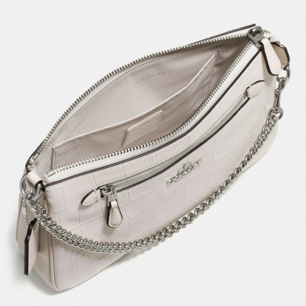 Nolita Wristlet 24 in Croc Embossed Leather - Alternate View A1
