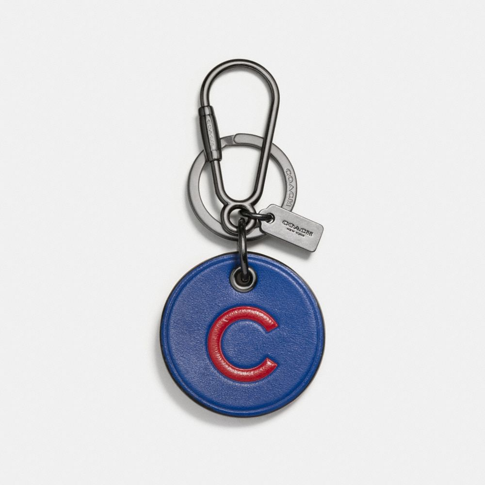 Coach Mlb Round Logo Key Ring