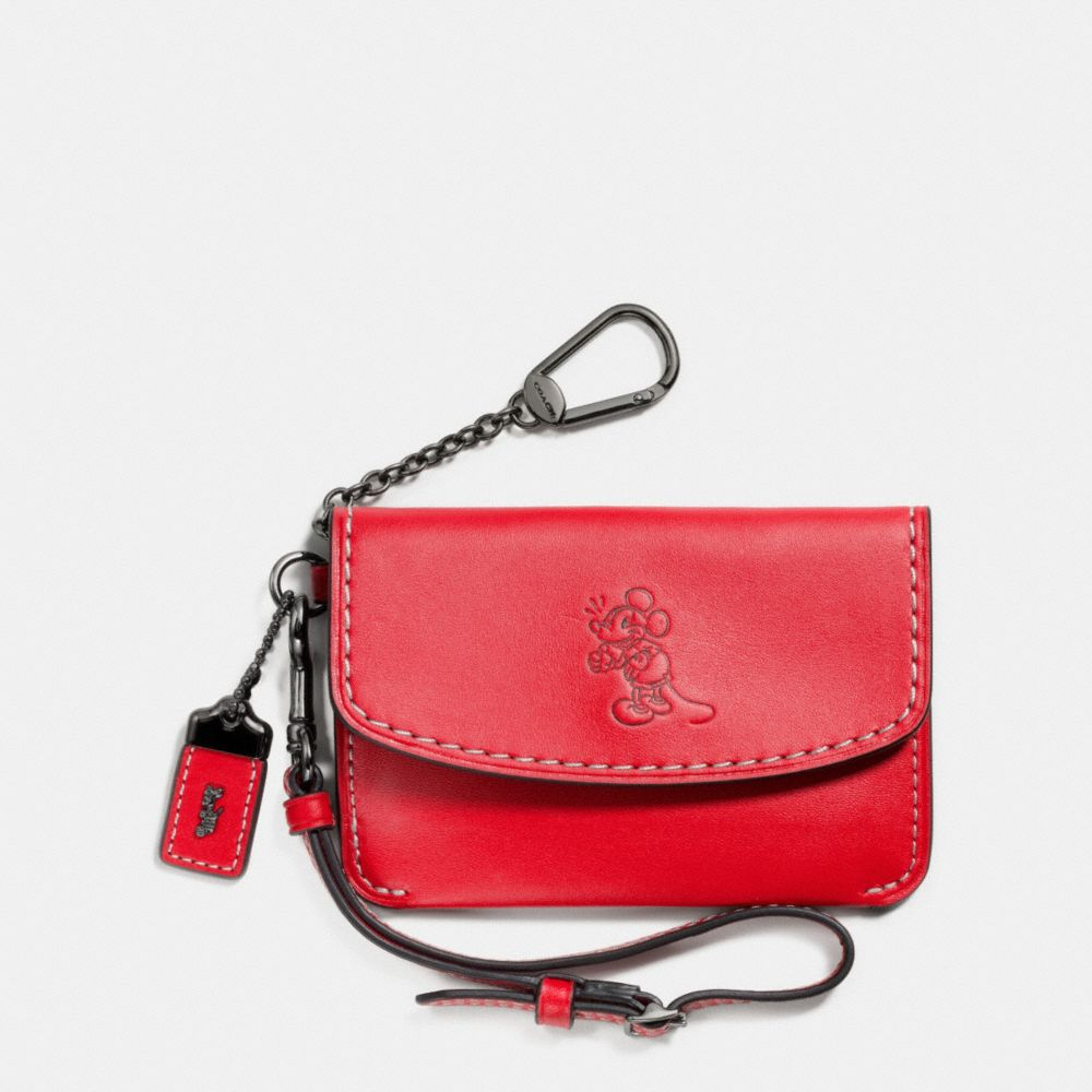 MICKEY ENVELOPE KEY POUCH IN GLOVETANNED LEATHER - Alternate View