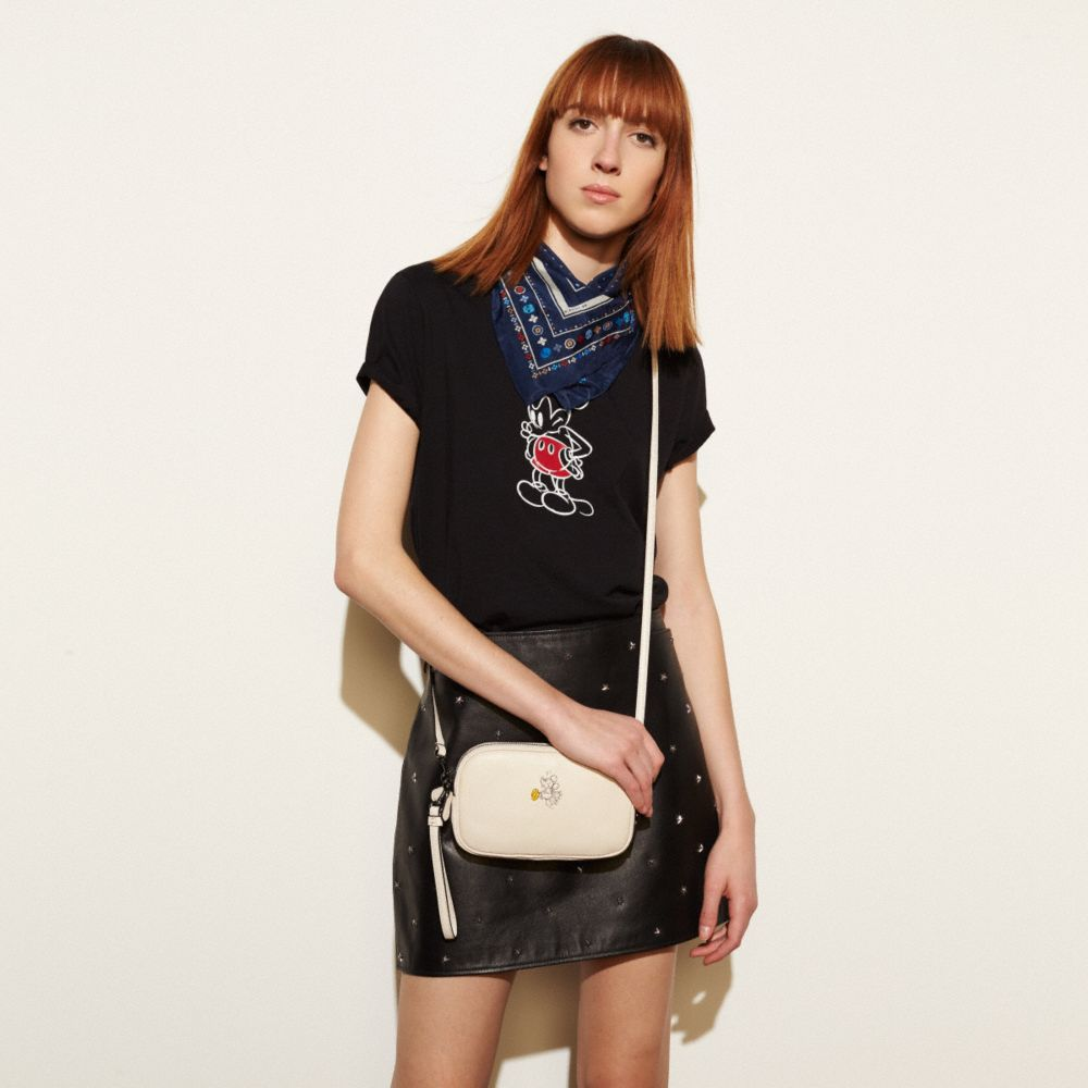 MICKEY CROSSBODY CLUTCH IN GLOVETANNED LEATHER - Alternate View A1