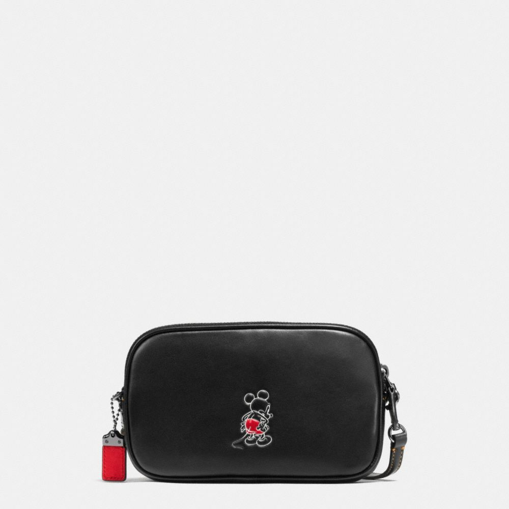 MICKEY CROSSBODY CLUTCH IN GLOVETANNED LEATHER - Alternate View