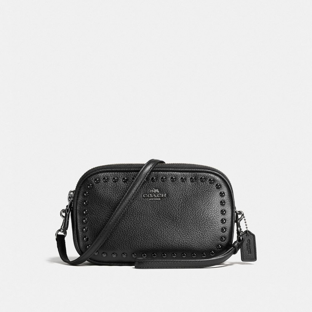 Coach Crossbody Clutch With Lacquer Rivets
