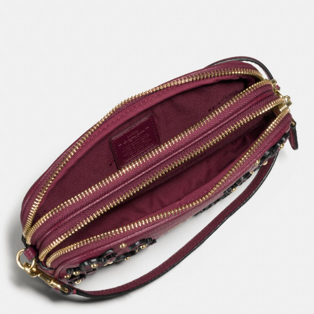 Willow Floral Crossbody Clutch in Pebble Leather - Alternate View A1