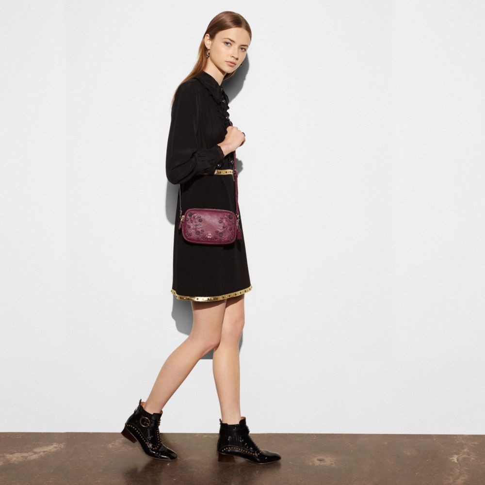 WILLOW FLORAL CROSSBODY CLUTCH IN PEBBLE LEATHER - Alternate View