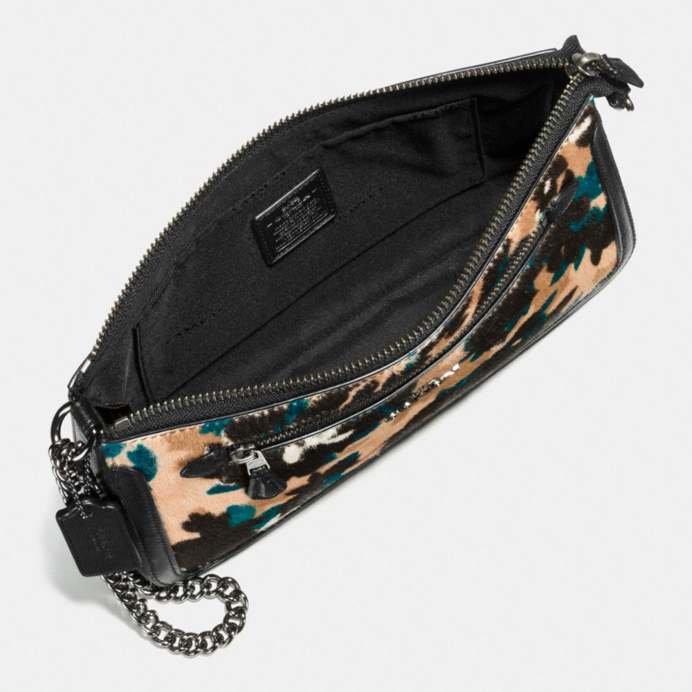 NOLITA WRISTLET IN SCATTERED LEAF PRINTED HAIRCALF  - Alternate View A1