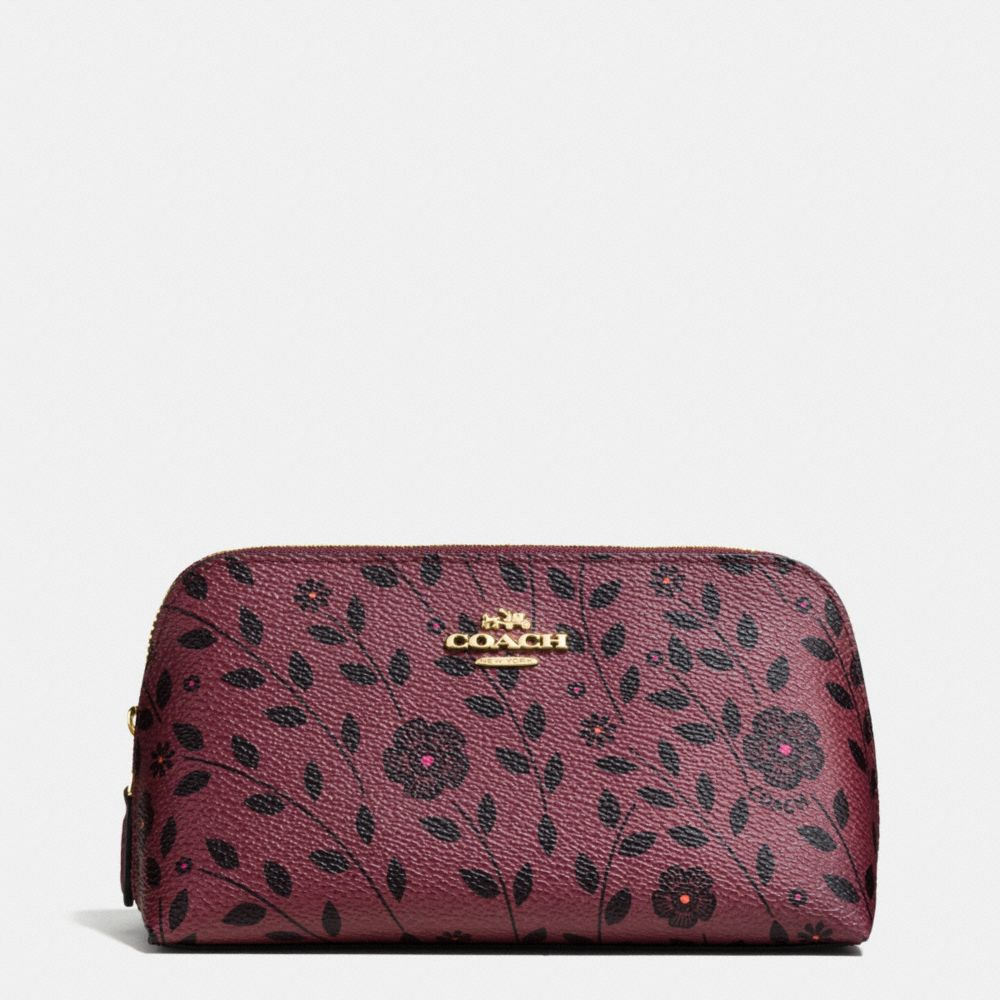 Coach Cosmetic Case 17 in Willow Floral Print Coated Canvas