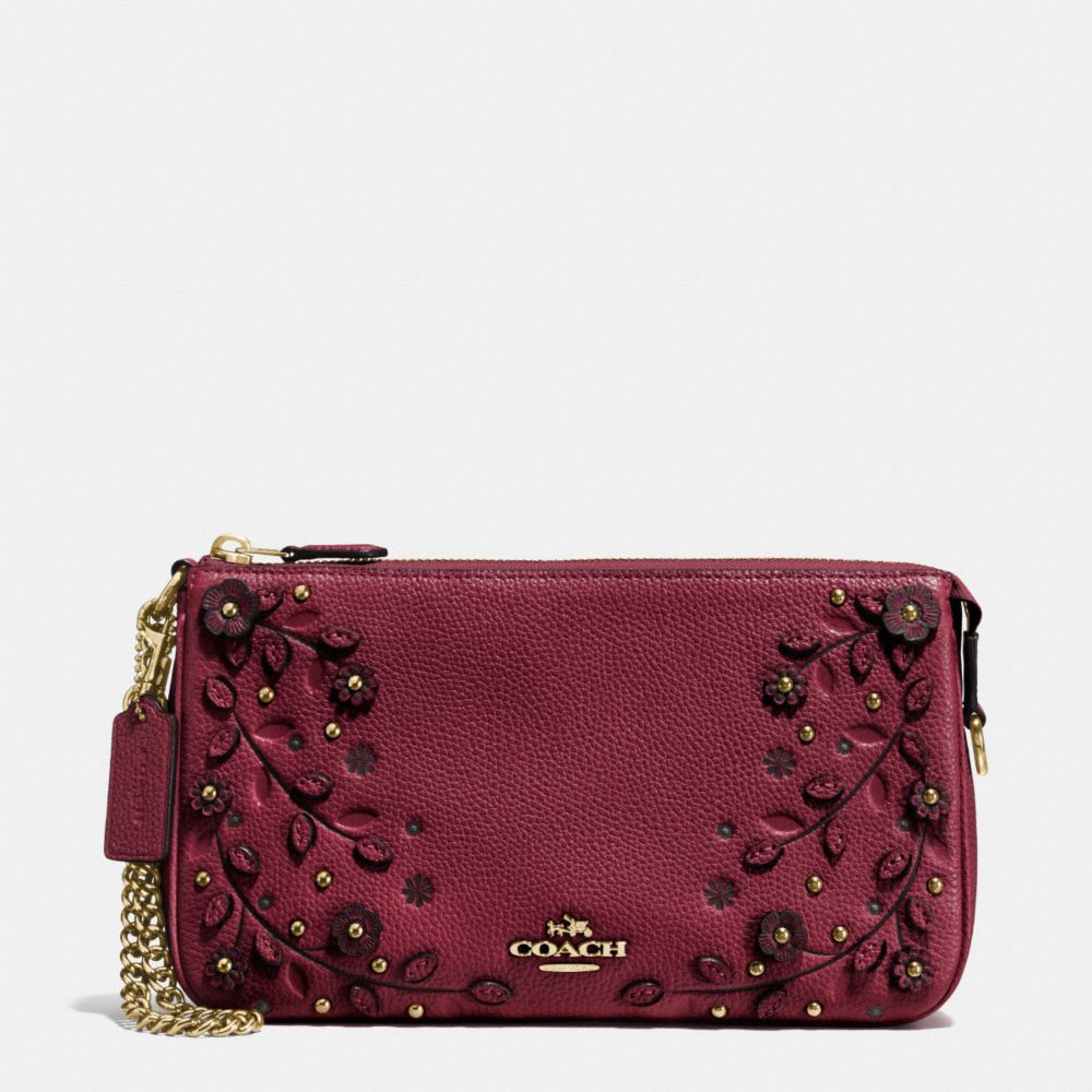 Coach Willow Floral Nolita Wristlet 24 in Pebble Leather