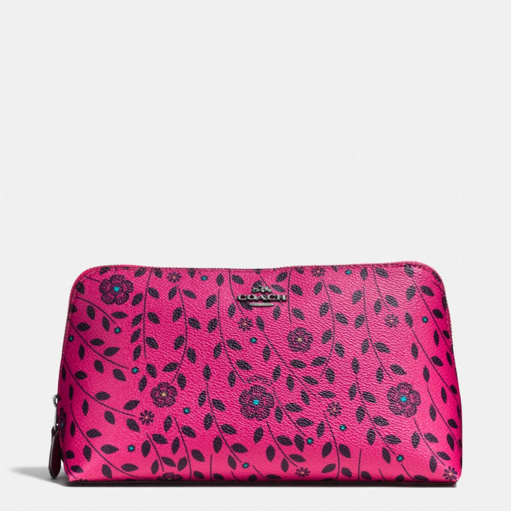 Coach Cosmetic Case 22 in Willow Floral Print Coated Canvas