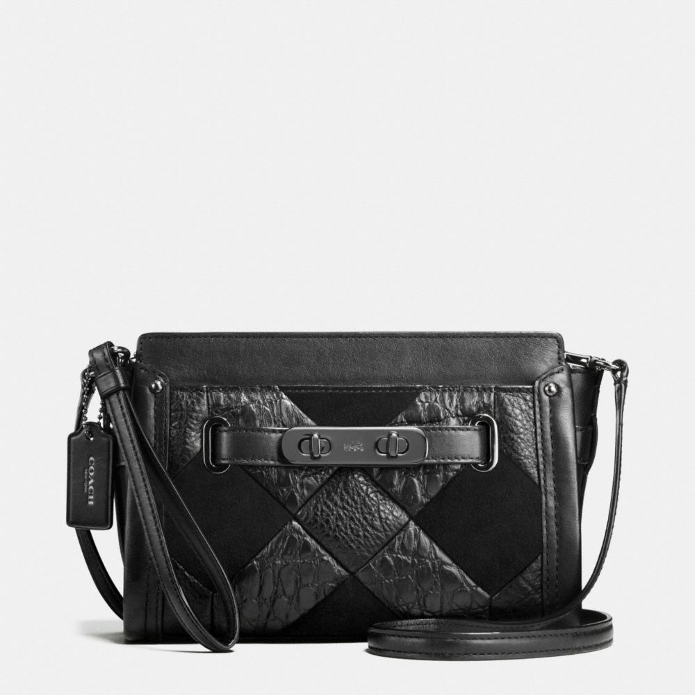 Coach Coach Swagger Wristlet in Canyon Quilt Exotic Embossed Leather