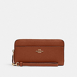 ACCORDION ZIP WALLET - IM/REDWOOD - COACH 6643