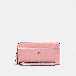 ACCORDION ZIP WALLET WITH WRISTLET STRAP - IM/BUBBLEGUM - COACH 6643