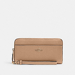 ACCORDION ZIP WALLET - IM/TAUPE - COACH 6643
