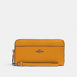 ACCORDION ZIP WALLET - QB/YELLOW - COACH 6643