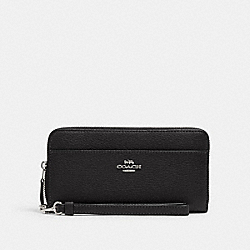 ACCORDION ZIP WALLET - SV/BLACK - COACH 6643